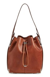 Alexander Wang 'Prisma' Drawstring Leather Hobo Brown Natural