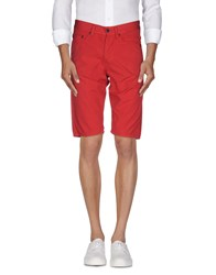Jaggy Trousers Bermuda Shorts Men Red