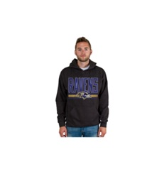 Authentic Nfl Apparel Men's Baltimore Ravens Ice Cold Hoodie Charcoal