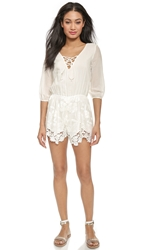 Liv Arie Lace Up Romper