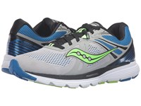 Saucony Swerve Grey Blue Slime Men's Running Shoes Gray