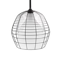 Diesel Living With Foscarini Large Cage Suspension Light White With Black Caging