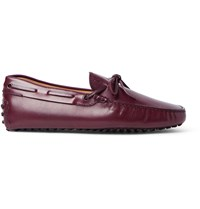 Tod's Gommino Leather Driving Shoes Burgundy