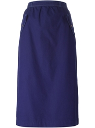 Celine Vintage High Waisted Skirt Blue