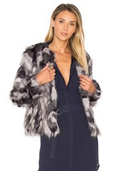Tularosa X Revolve Averly Faux Fur Coat On Grey And Black Gray