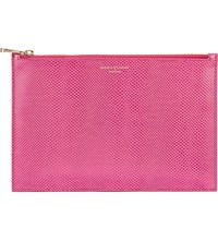 Aspinal Of London Small Essential Flat Leather Pouch Pink