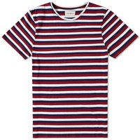 Oliver Spencer Conduit Stripe Tee Red