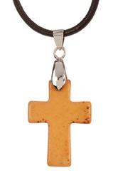 Jean Claude 4 Interchangeable Turquoise Cross Pendant Necklace With Leather Cord Multi