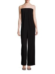 Bcbgmaxazria Solid Strapless Jumpsuit Black