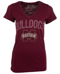 Royce Apparel Inc Women's Mississippi State Bulldogs Vintage Arch T Shirt Maroon