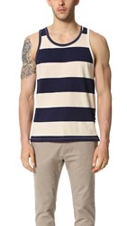 Sol Angeles Rugby Stripe Split Tank Natural