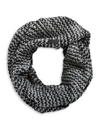 John Varvatos Textured Knit Loop Scarf Black