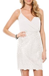 Women's Laundry By Shelli Segal Metallic Lace Blouson Dress