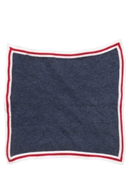 Royal Hem Cotton Knit Pocket Square Navy
