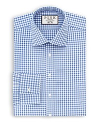Thomas Pink Summers Check Dress Shirt Bloomingdale's Regular Fit Pale Blue