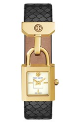 Tory Burch Women's 'The Surrey' Leather Strap Watch 20Mm X 21Mm