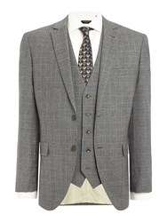 Corsivo Atillio Sb2 Prince Of Wales Check Suit Jacket Brown