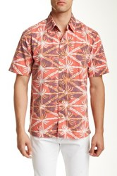 Kahala Bermuda Floral Print Short Sleeve Shirt Red