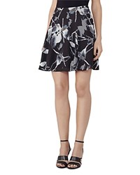 Reiss Jontel Printed Skirt Midnight