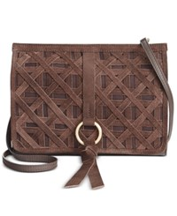 Nanette Lepore Leather Clutch Nut