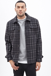 Forever 21 Plaid Workwear Shirt Jacket