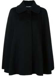Dolce And Gabbana Cape Short Coat Black