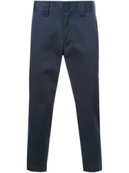 Bedwin And The Heartbreakers Slim Fit Cropped Trousers Blue