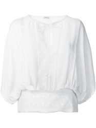 Talitha Peasant Blouse White