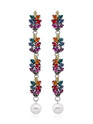 Anton Heunis Long Tiny Leaf Drop Earrings