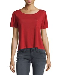 Frame Denim Le Boxy Short Sleeve Tee Crimson
