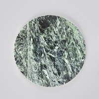 Broste Small Round Marble Plate Green