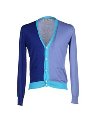 Four Knitwear Cardigans Men Lilac