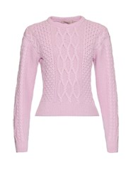 Christopher Kane Wool And Cashmere Blend Cable Knit Sweater