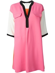 Mauro Grifoni Colour Block Dress Pink And Purple