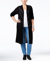 Styleandco. Style Co. Plus Size Duster Cardigan Only At Macy's Deep Black