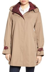 Gallery Petite Women's Water Repellent A Line Rain Jacket Calvary