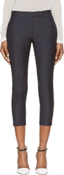 Thom Browne Navy Cropped Wool Trousers
