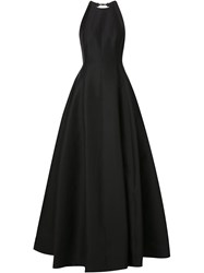 Halston Heritage Full Skirt Evening Dress Black