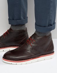 Frank Wright Desert Boots In Brown Leather Brown