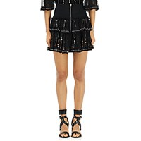 Isabel Marant Women's Flore Tiered Miniskirt Black