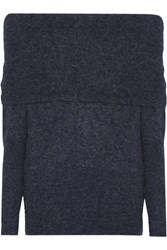 Acne Studios Daze Off The Shoulder Knitted Sweater Storm Blue
