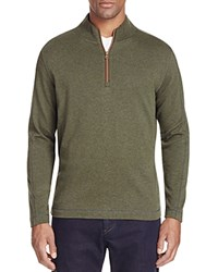 Robert Graham Quarter Zip Pullover Heather Forest