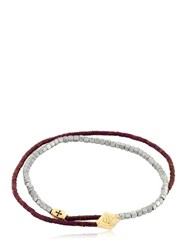 Luis Morais Double Wrap Lozenge And Barrel Bracelet