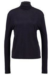 Filippa K Long Sleeved Top Navy Dark Blue