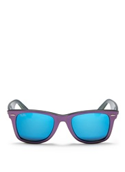 Ray Ban 'Original Wayfarer Cosmo Saturn' Iridescent Acetate Sunglasses Purple Metallic