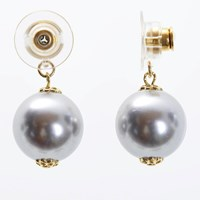 Chrysmela Infinity Earring Jacket With Swarovski Crystal Pearls Silver Grey Gold