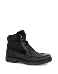 Ugg Barrington Shearling Lined Leather Utility Boots Black
