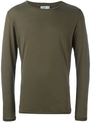 Closed Crew Neck Jumper Green