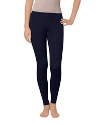 Hue Stretch Cotton Leggings Navy