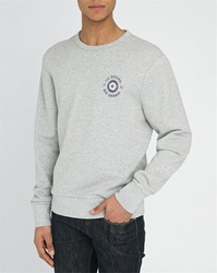 Ben Sherman Mottled Grey Old Logo Sweatshirt